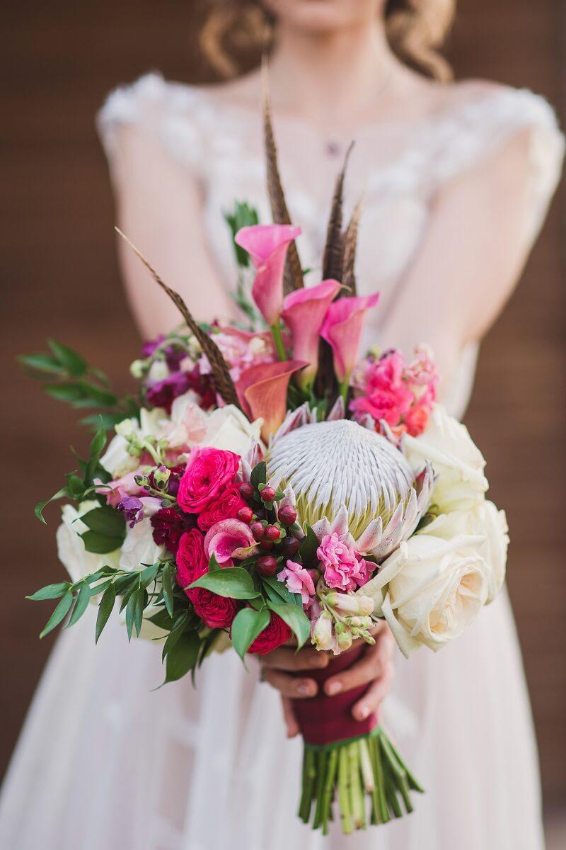 Brautstrauß fuchsia