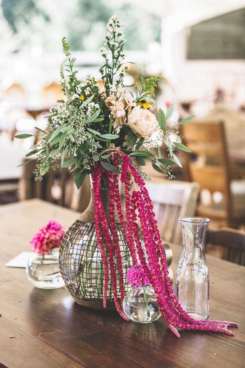 Hochzeit Tischdeko Fuchsia