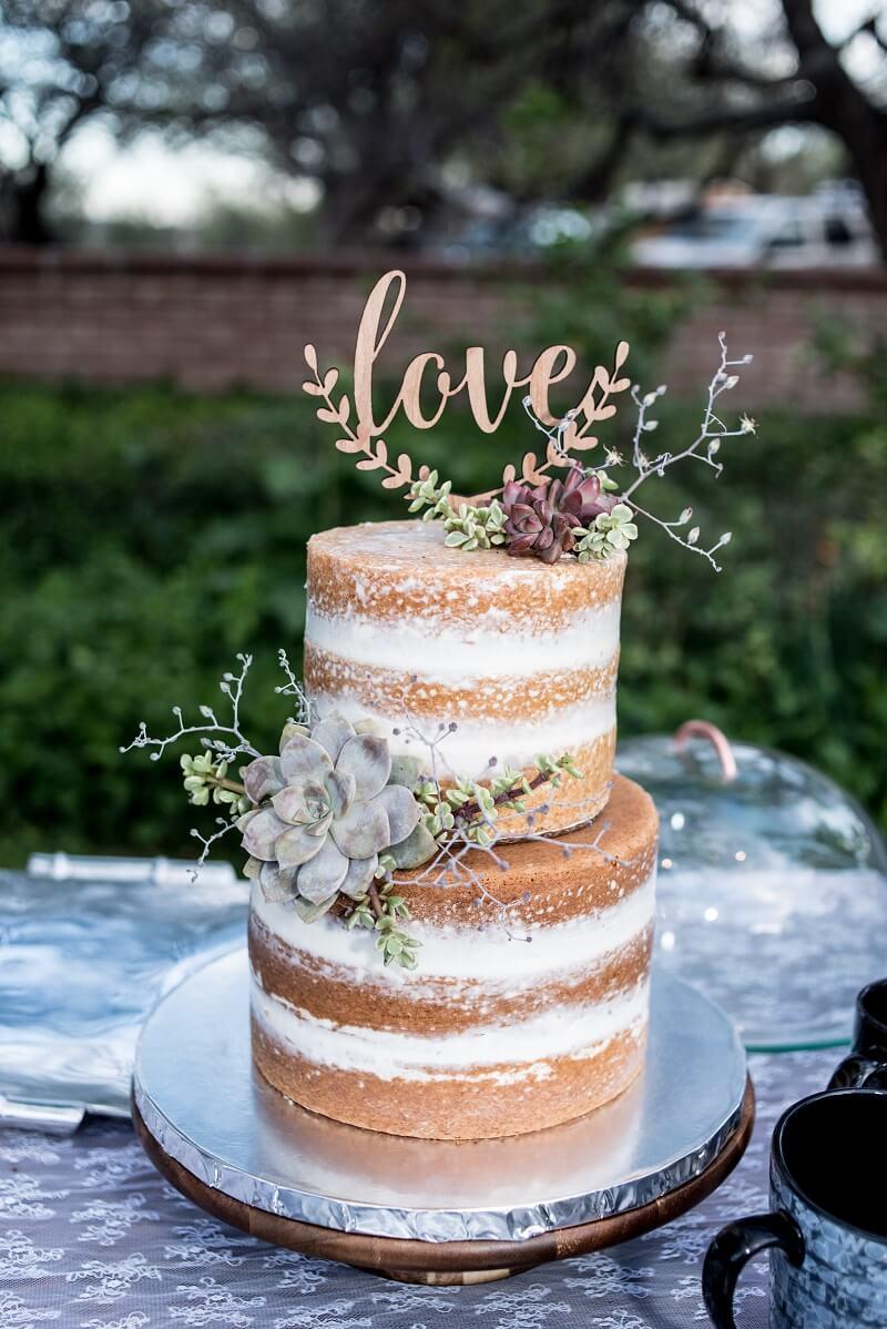 Hochzeitstorte Naked Cake Boho