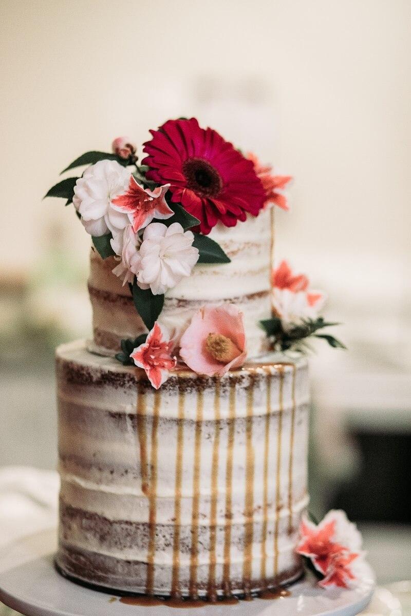 Naked Cake mit Drip Effekt