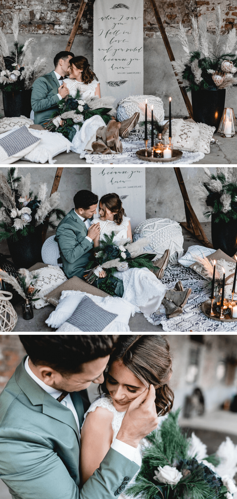 Boho Hochzeit mit Pampasgras