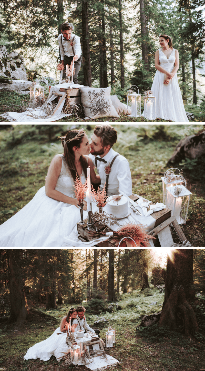 Elopement Wedding mit Astilben