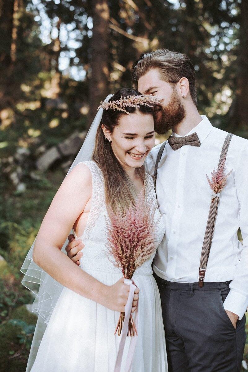 Brautpaar Wald Shooting
