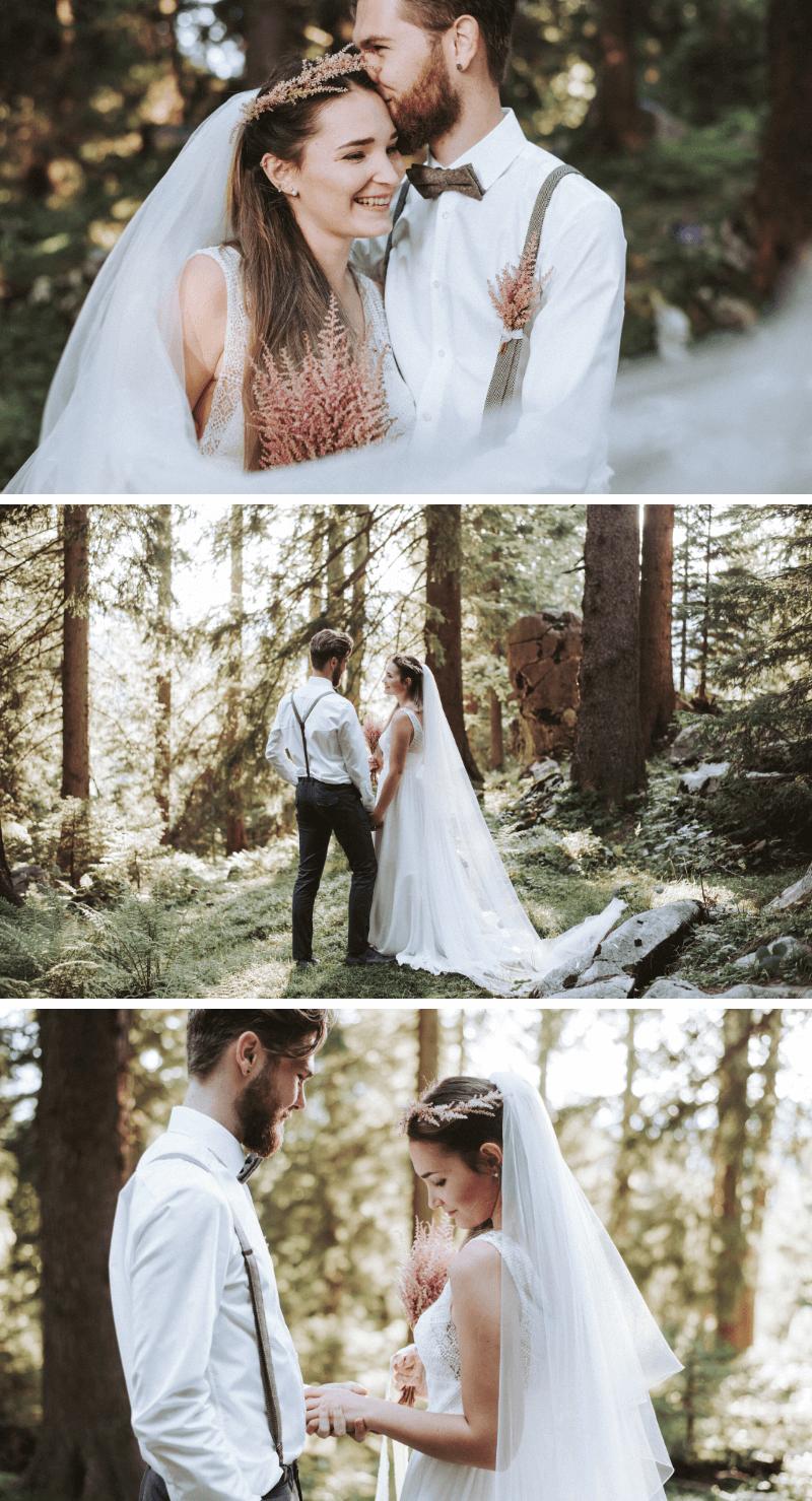 Brautpaar Shooting im Wald