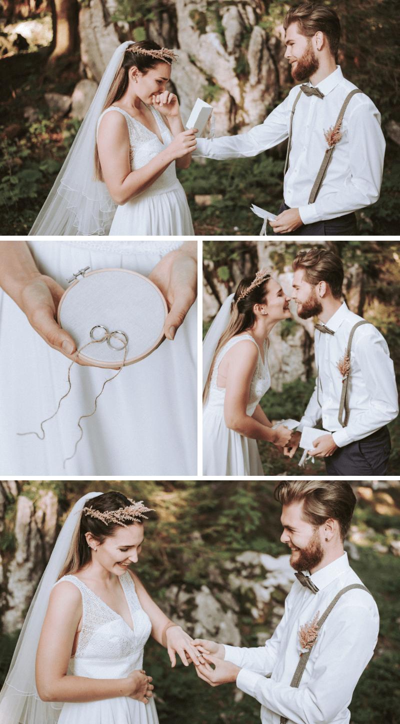 Elopement Hochzeit im Wald