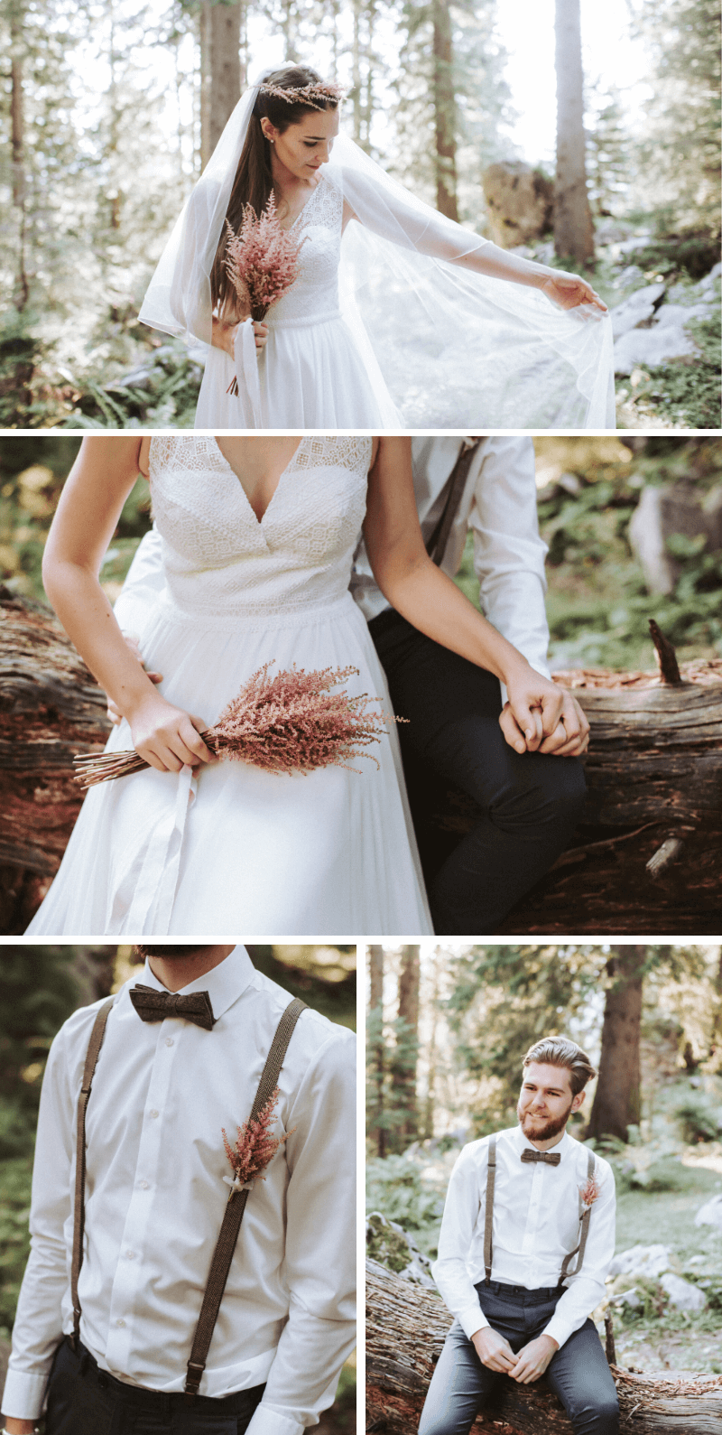 Brautpaar Accessoires mit Astilben
