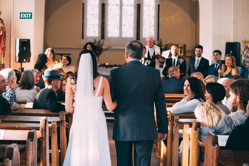 Kirchliche Trauung Einzug