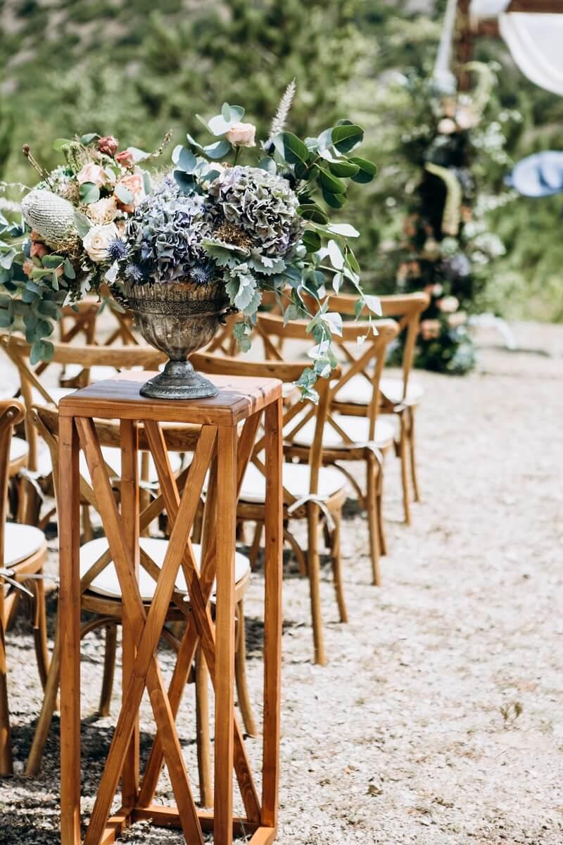 Hochzeitsblumen blau