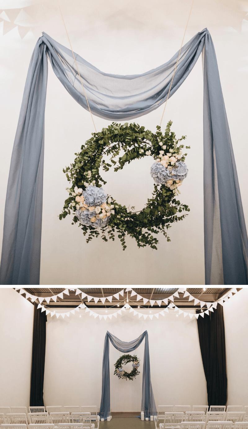Hochzeitsdeko hellblau