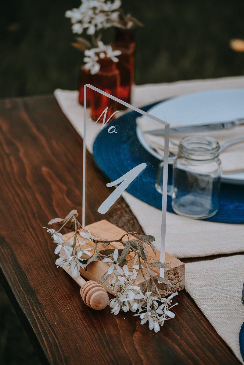 Tischnummern Hochzeit
