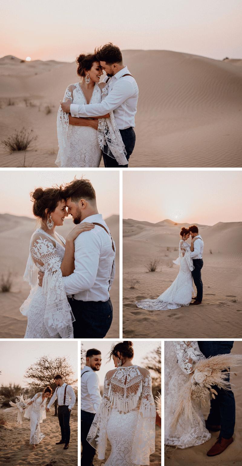 Boho Brautpaarshooting Wüste