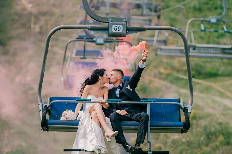 originelle Hochzeitsfotos