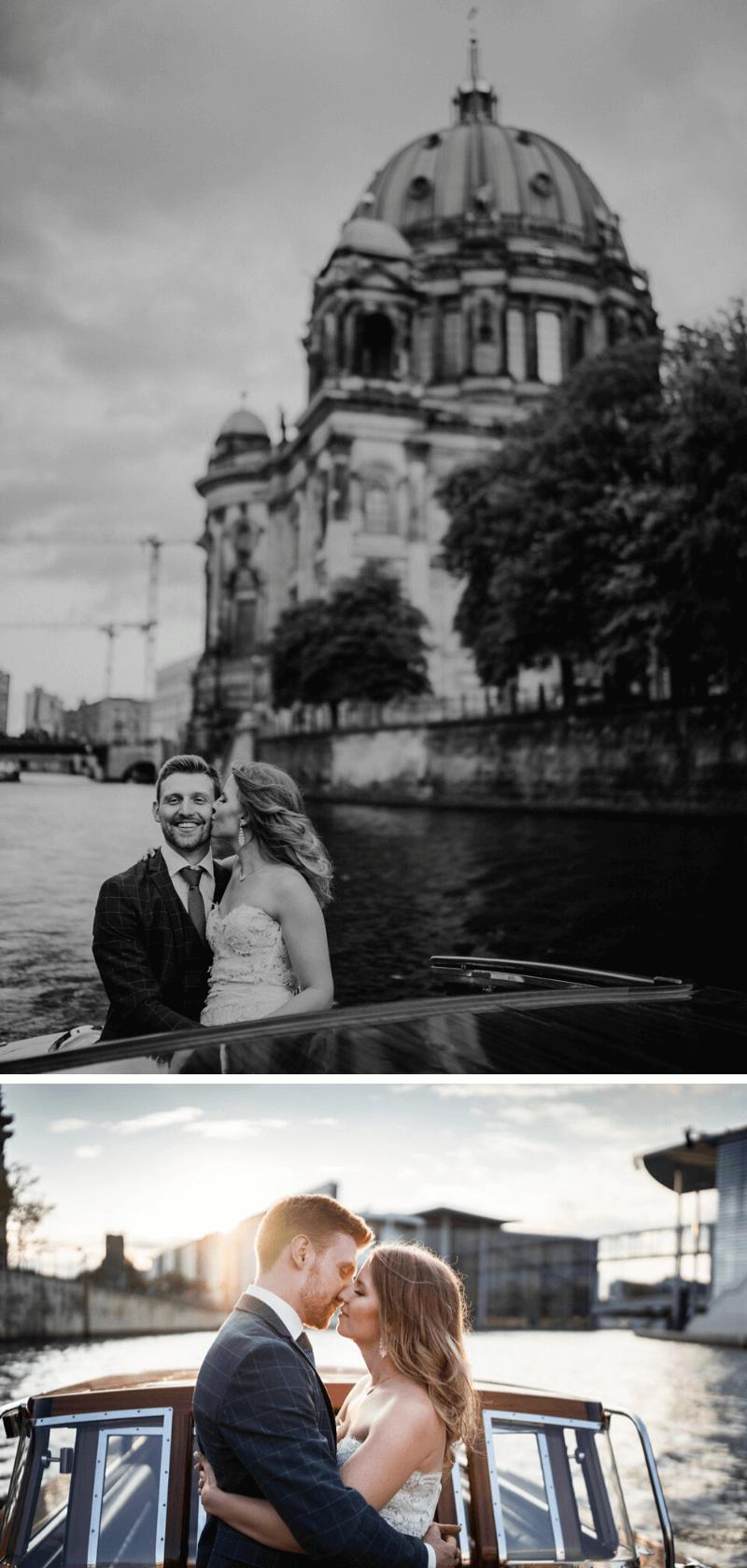 Hochzeitsfotos Bootsfahrt