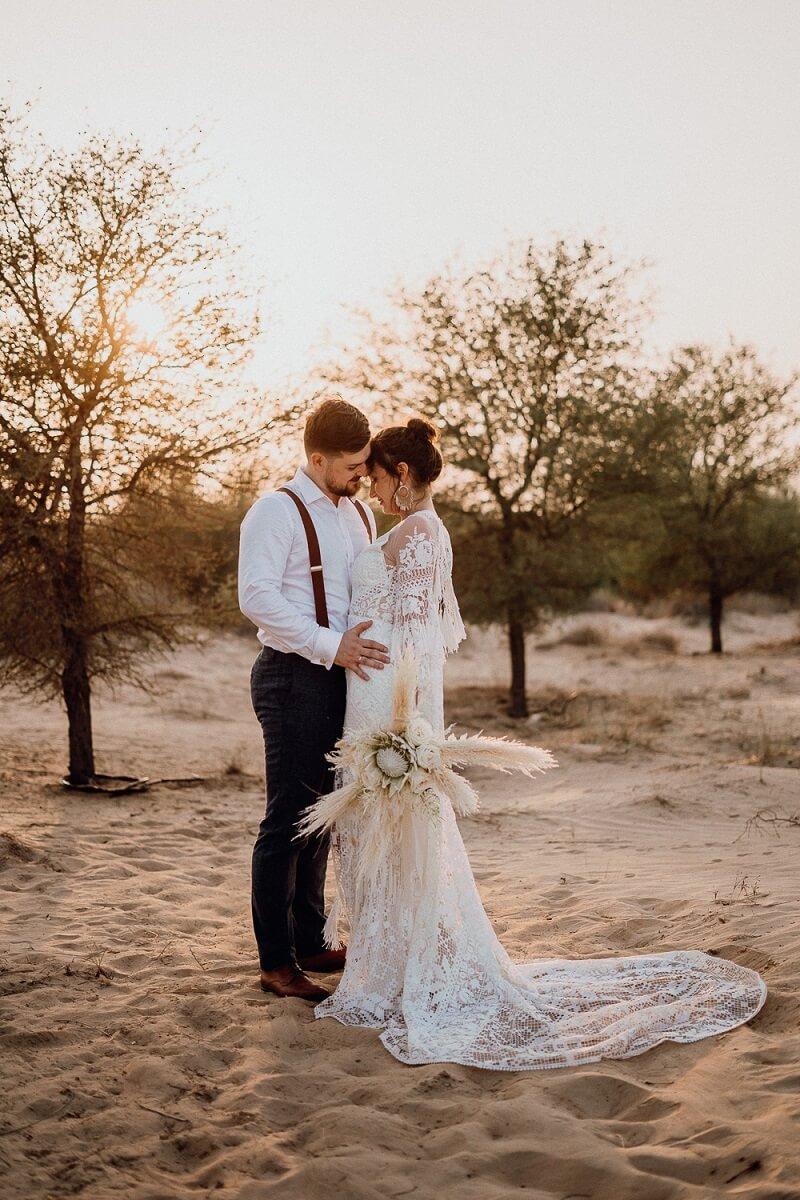 Wüstenshooting Brautpaar