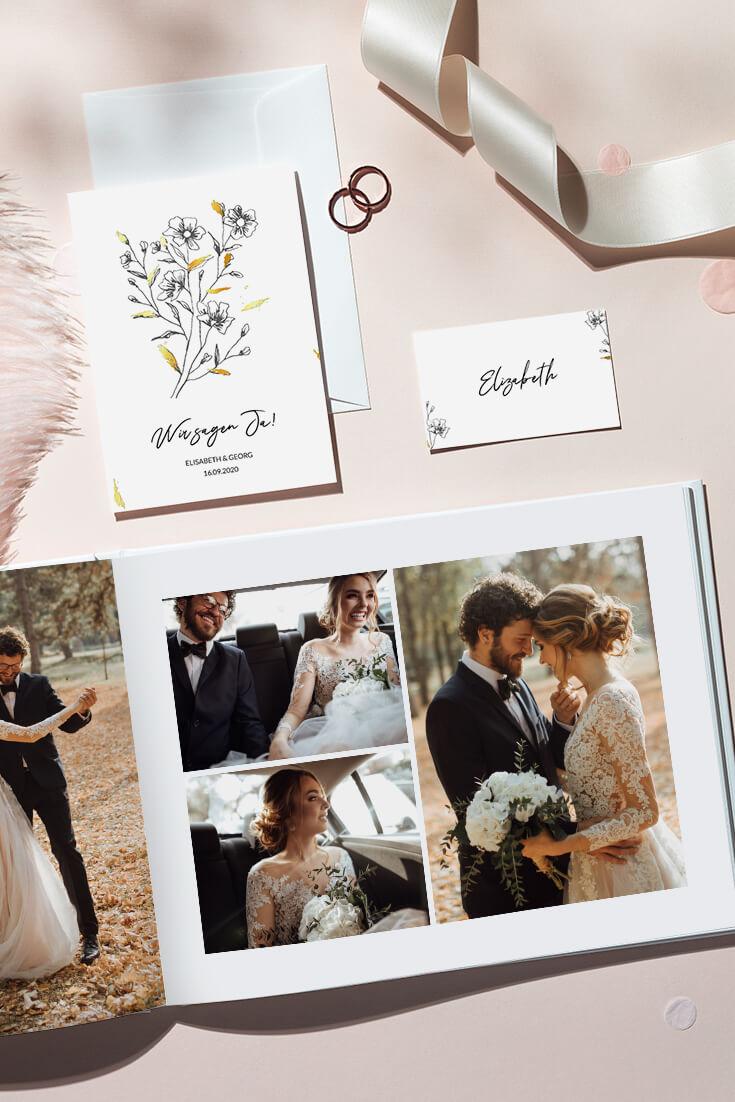 Hochzeitsfotobuch gestalten