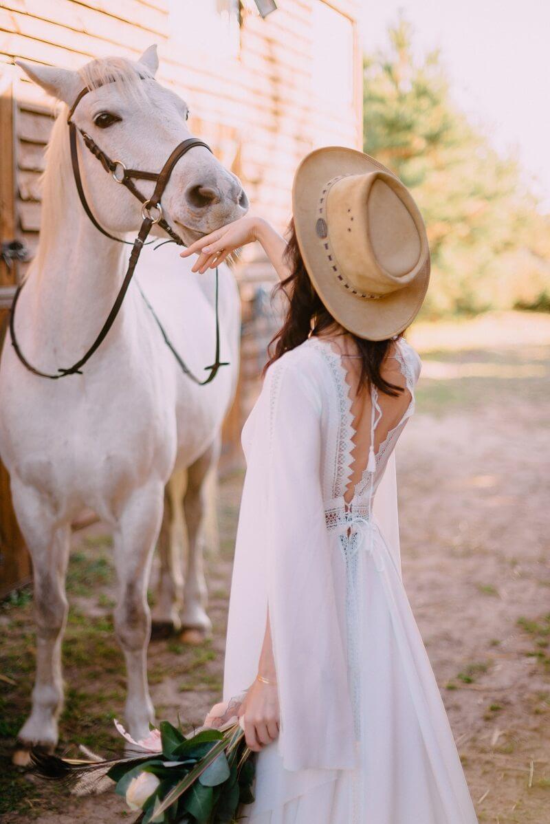 Hochzeitsshooting mit Tieren