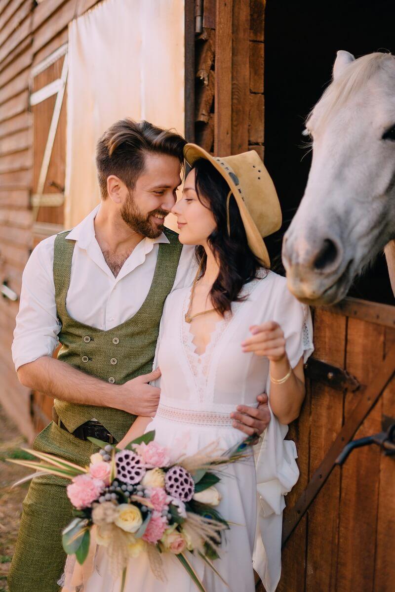 Brautpaarshooting mit Tieren