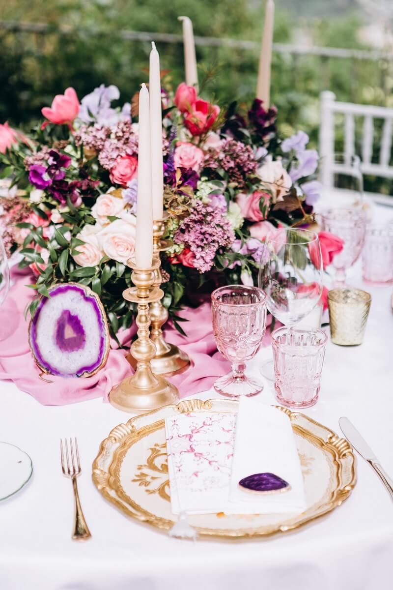 Tischdeko Hochzeit Blumendeko