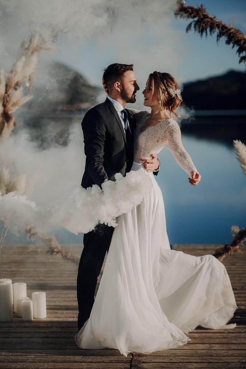 Winter Hochzeit am See