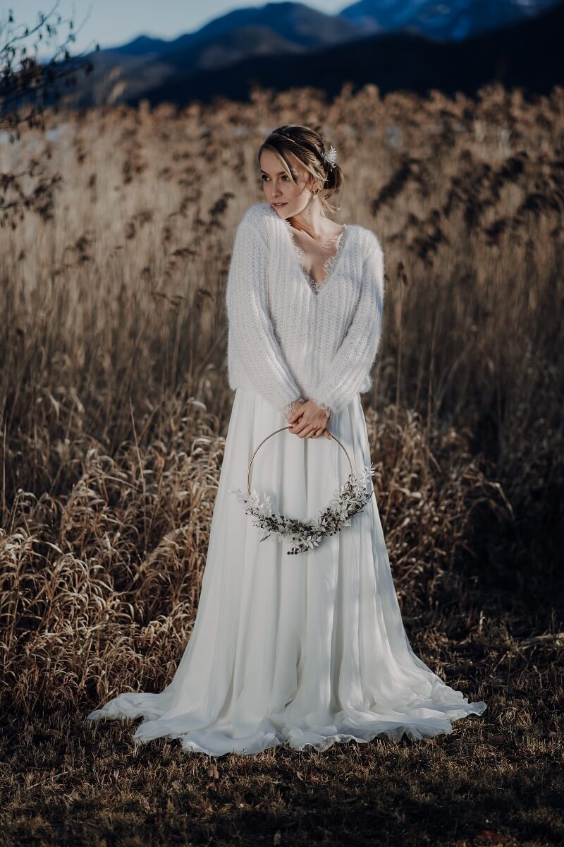 Winter Braut, Braut Pullover, Braut Jacke