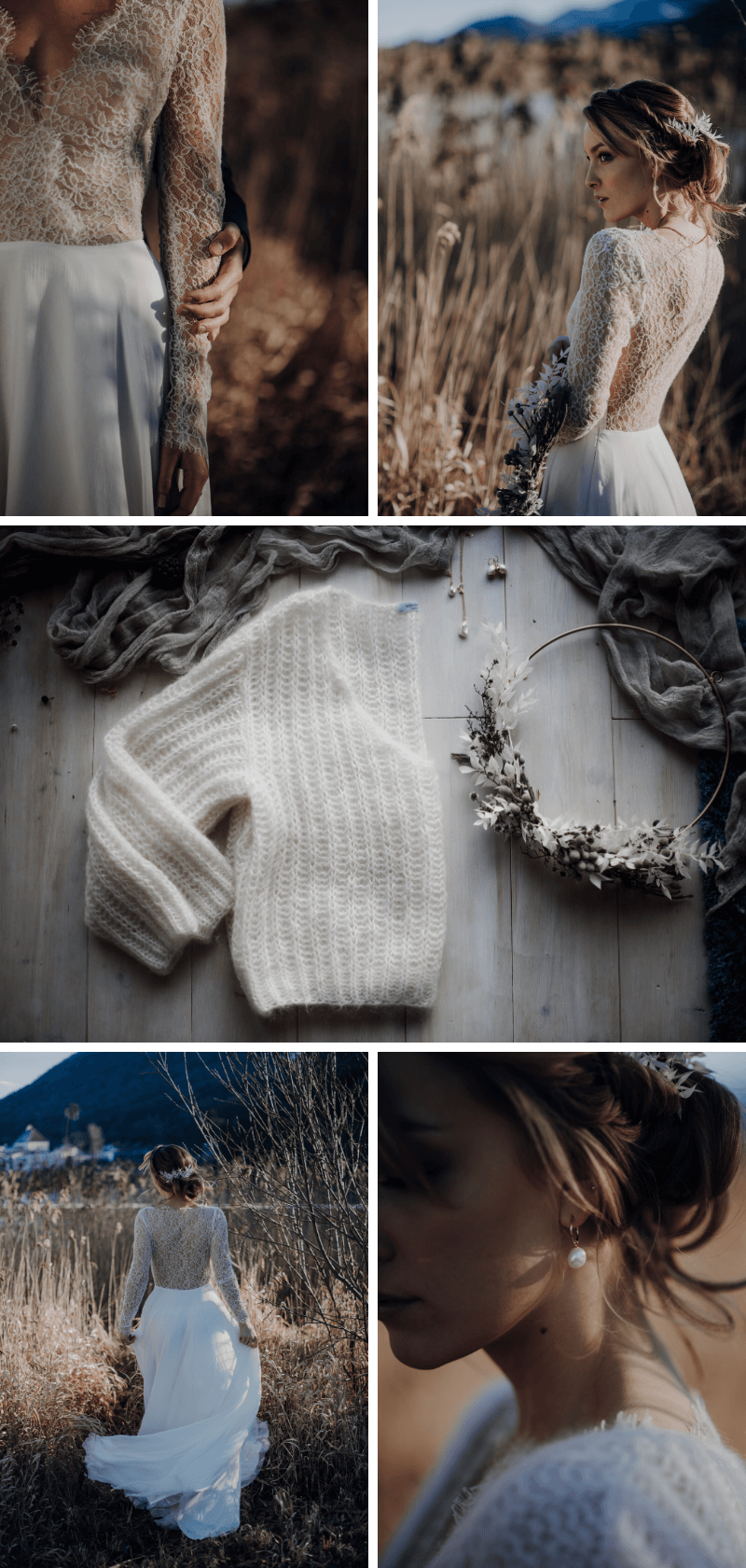 Braut Accessoires Winter, Winterbraut Styling