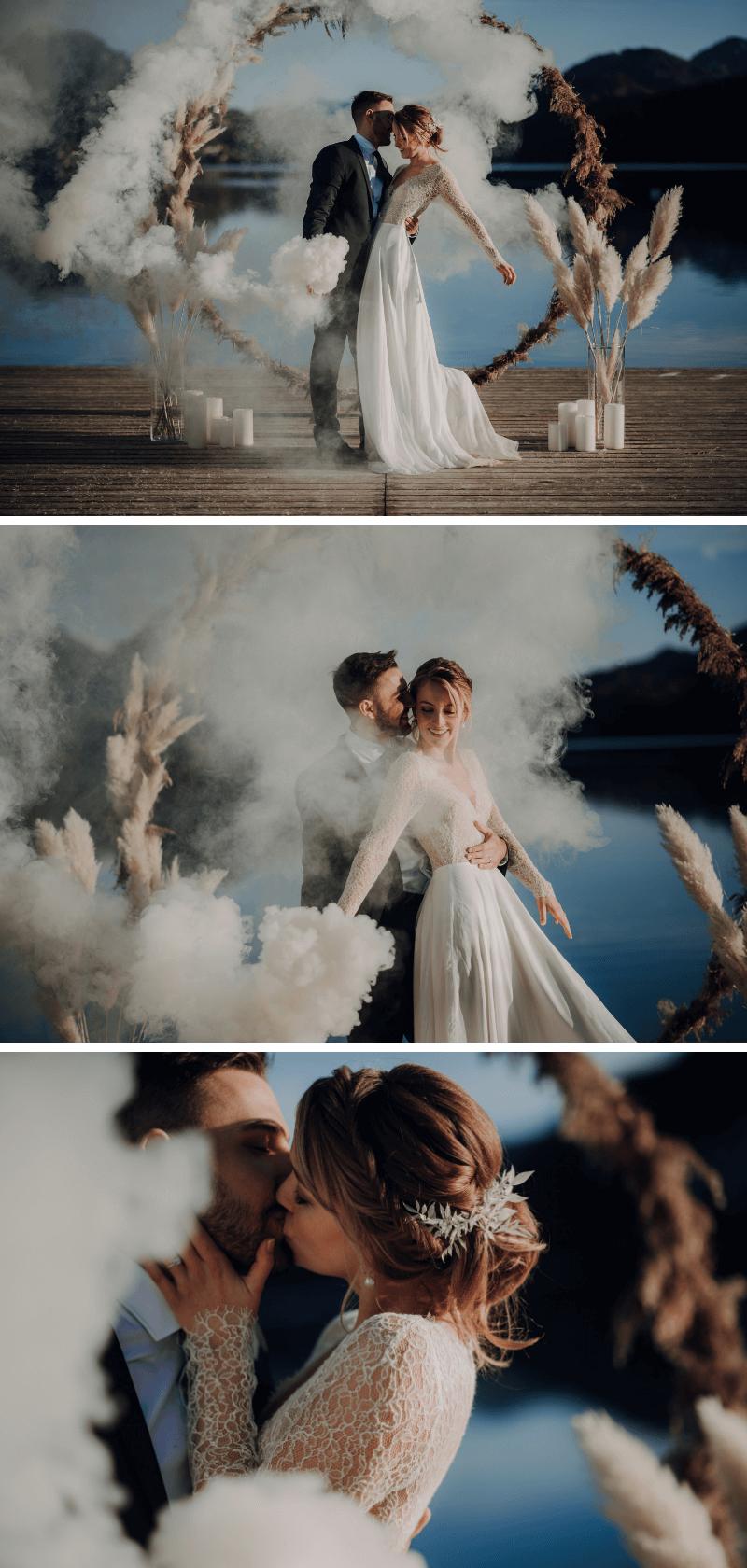 Hochzeitsfotos Rauchdosen, Brautpaar Fotos Ideen