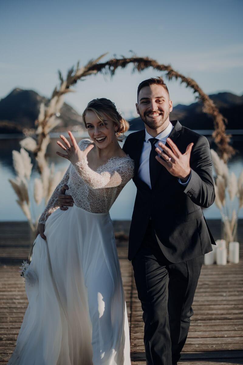 Winter Brautpaar, Hochzeitsfotos