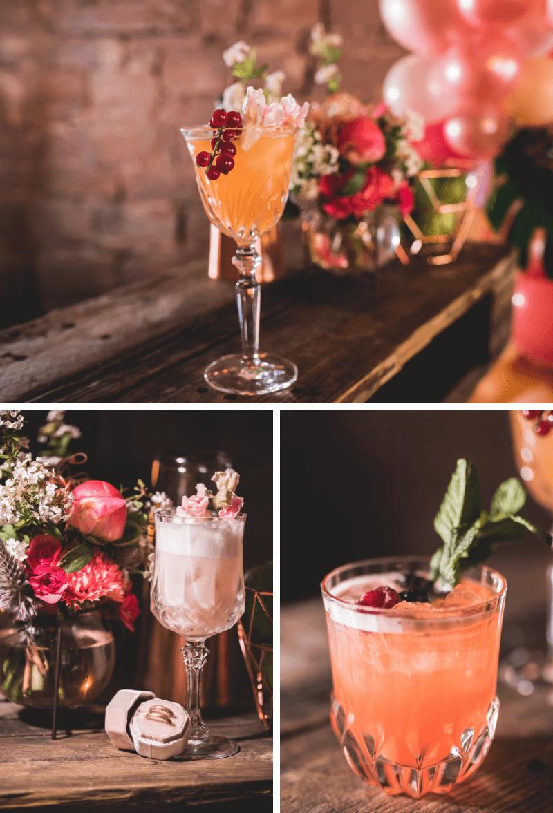Cocktails Hochzeit tropisch
