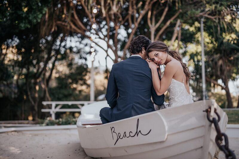 Hochzeit am Strand Brautpaar