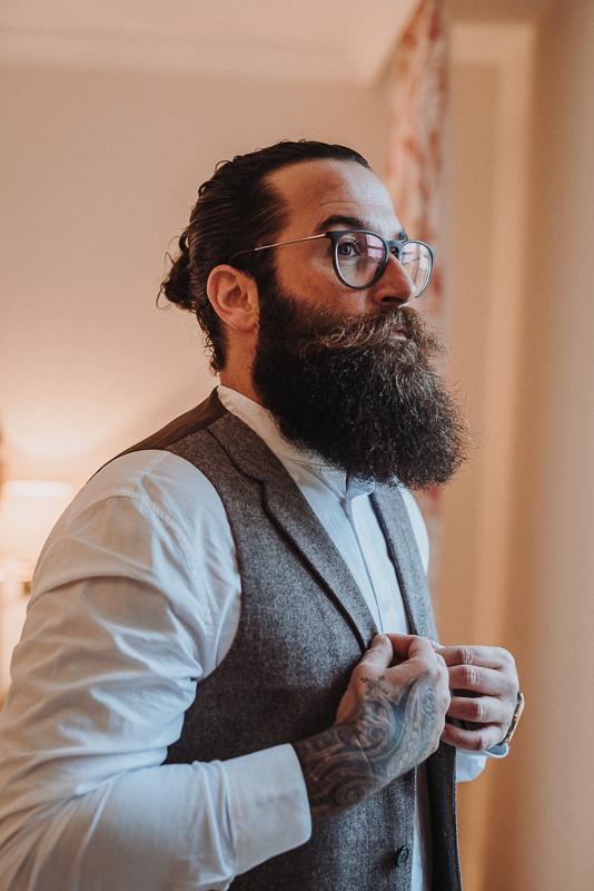 Boho Hipster Bräutigam