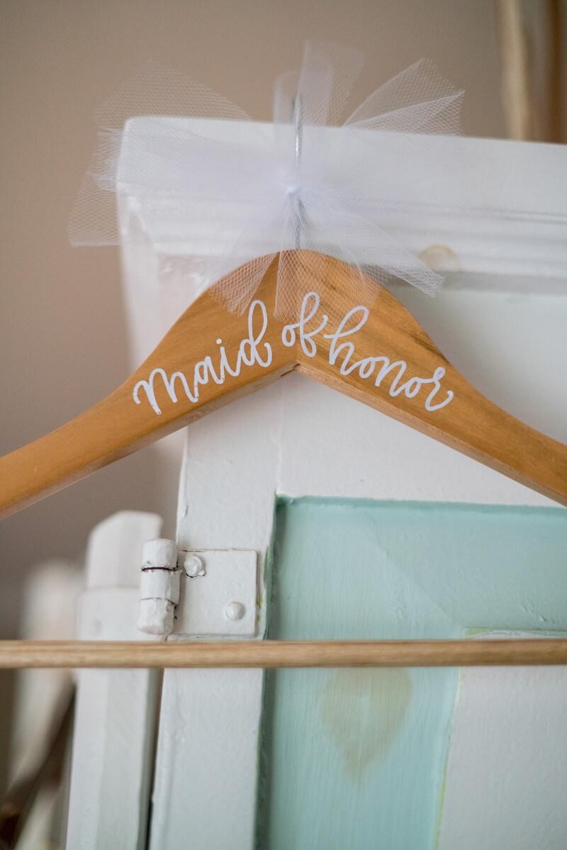 Geschenk Trauzeugin, Kleiderbügel Hochzeit