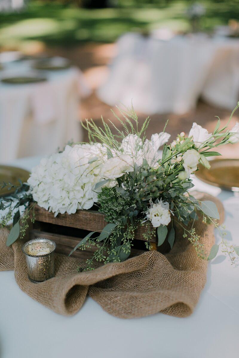 Tischdeko mit Stoffen
