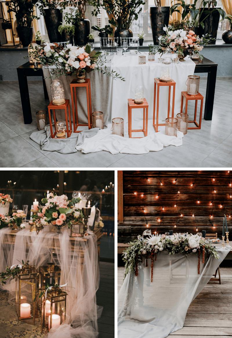 Tischdeko Tischläufer Hochzeit