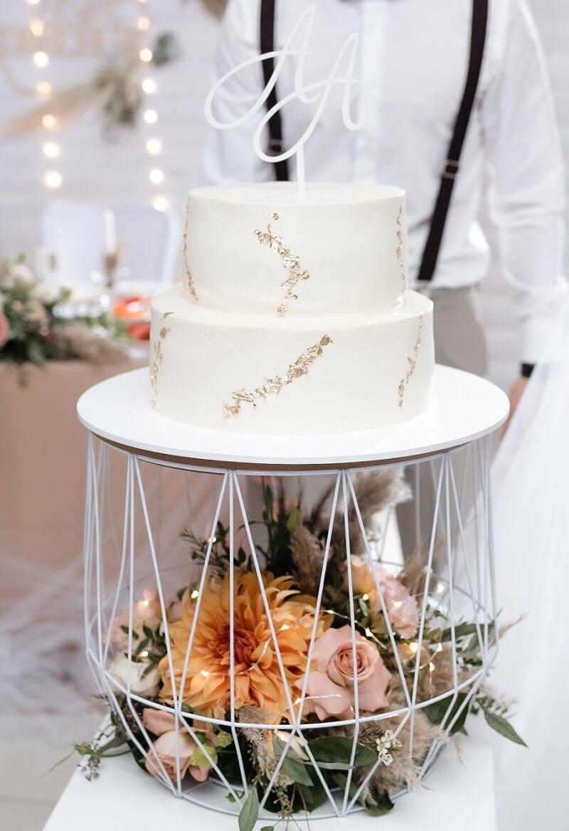 kreative Deko für Hochzeitstorte, Ständer Hochzeitstorte