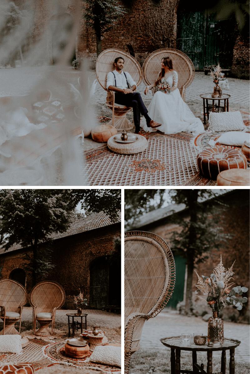 Hochzeitslounge Boho, Dekoverleih Hochzeit