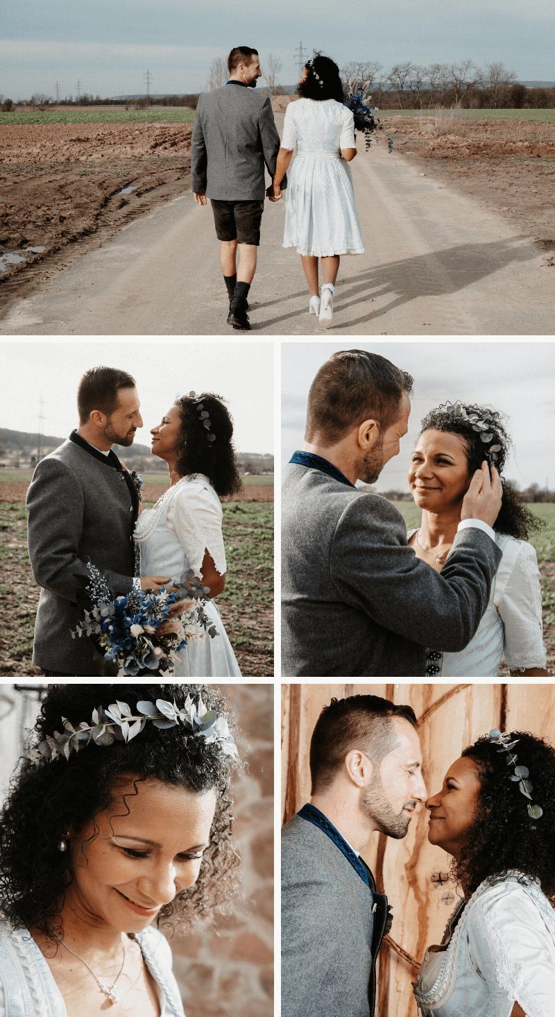Hochzeitsshooting am Land, Trachtenhochzeit
