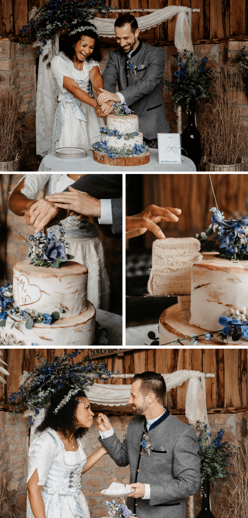 Hochzeitstorte Baumstamm, Hochzeitstorte rustikal