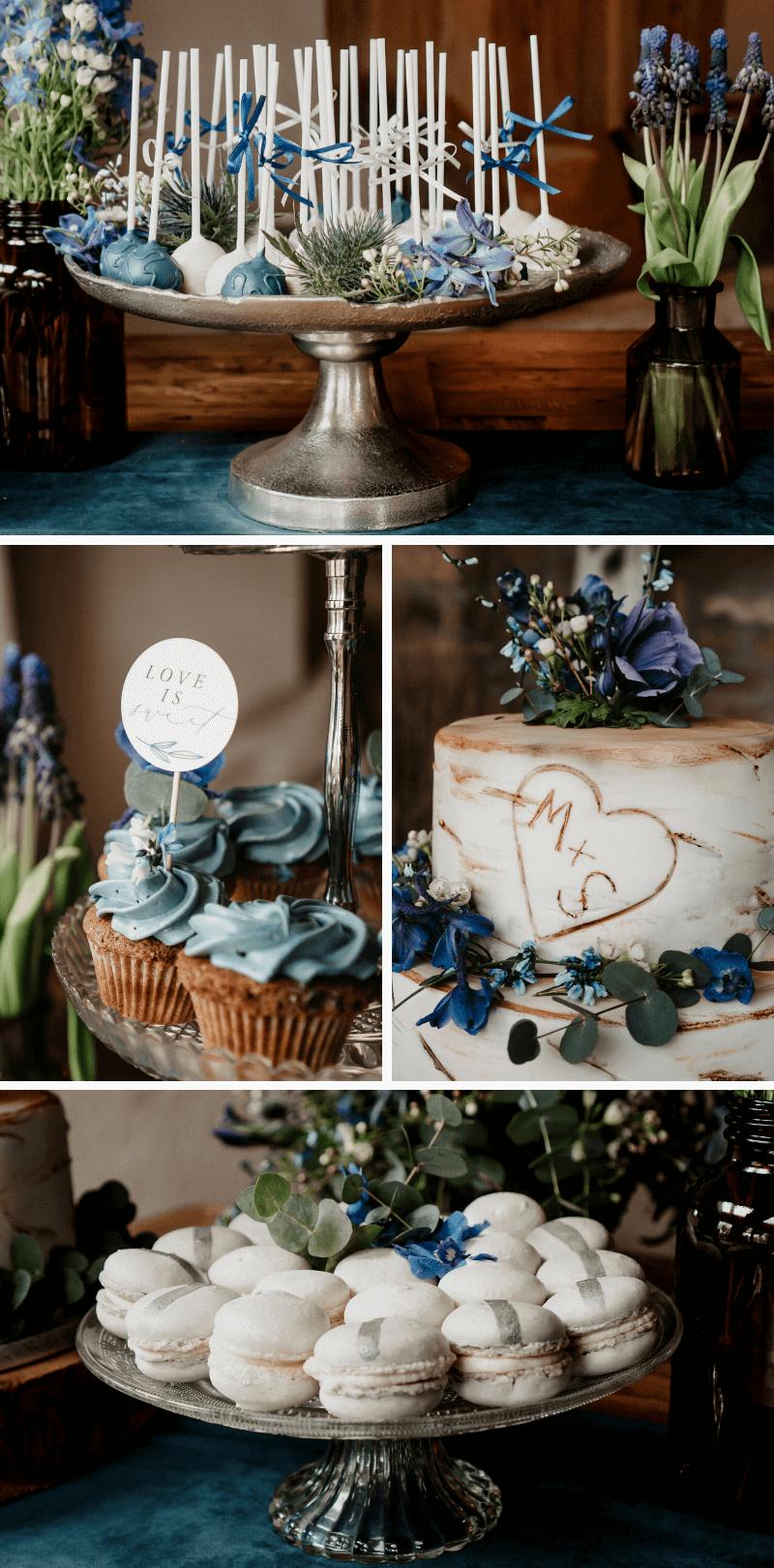 Hochzeit Sweet Table Blau