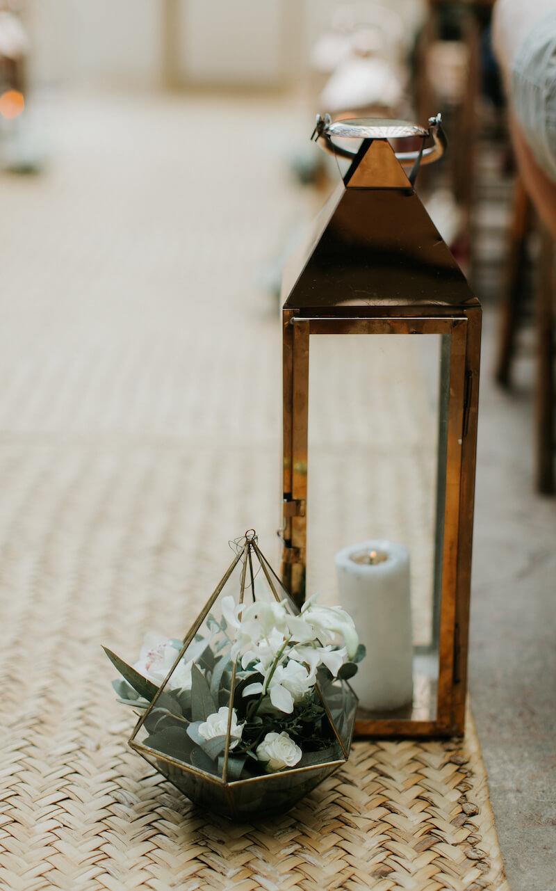 Hochzeitsdeko für die Trauung