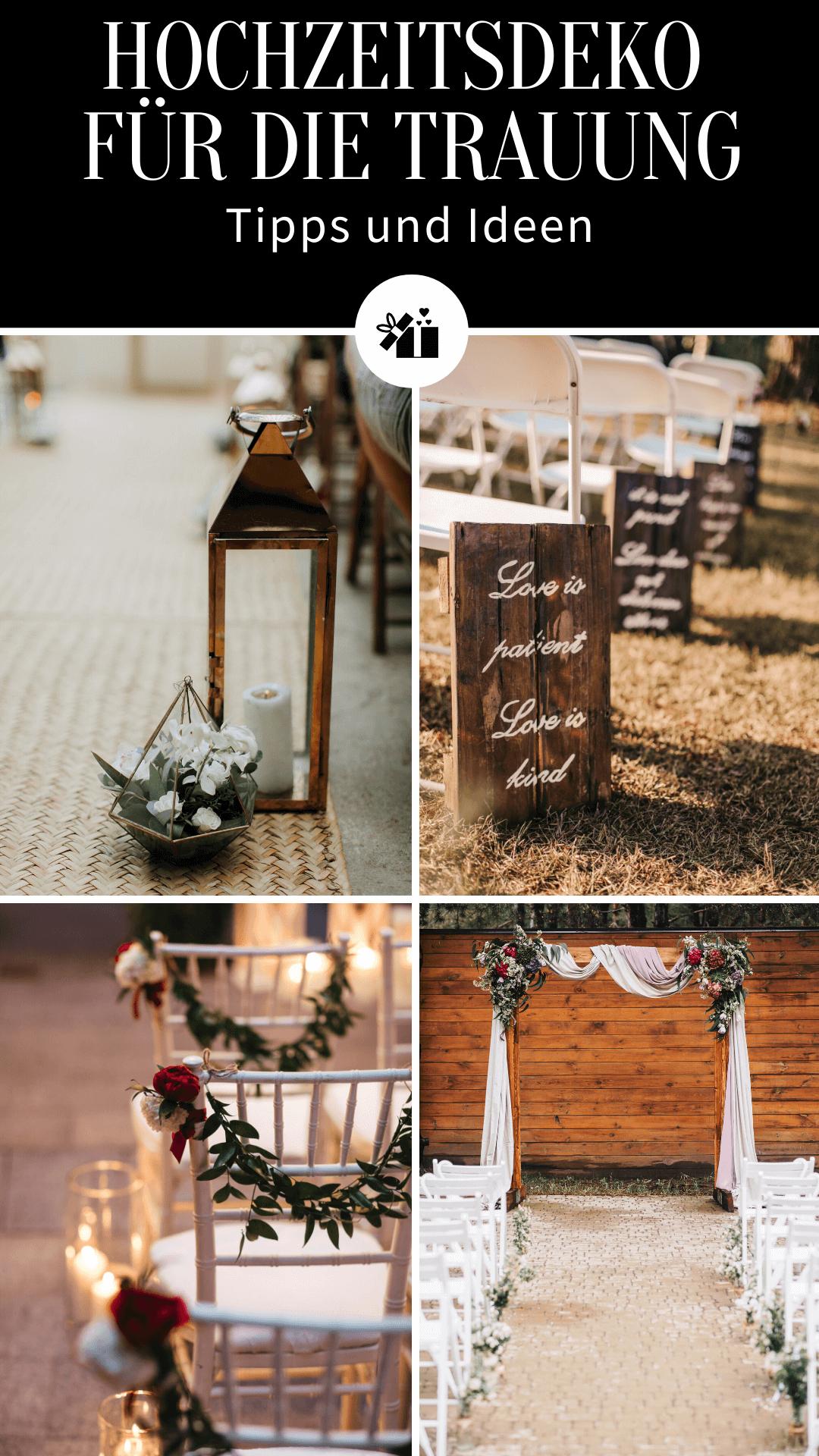 Hochzeitsdeko für die Trauung Ideen