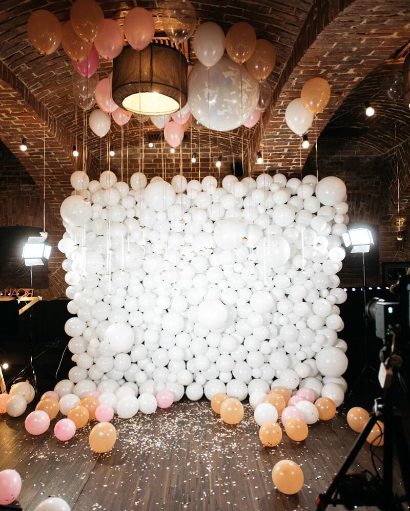 Ballon Wall Hochzeit, Hochzeitstrends Ballons
