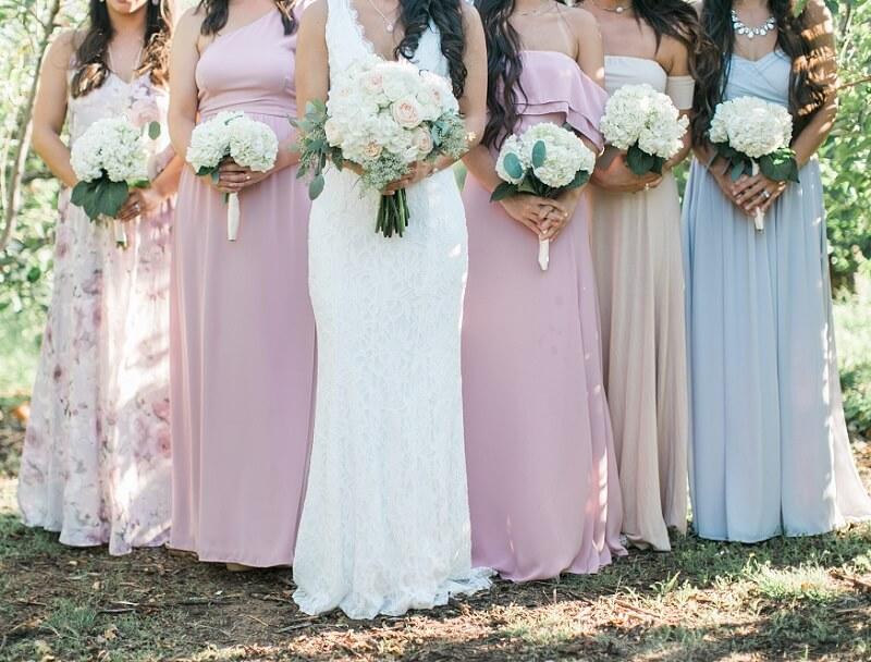 Brautjungfernkleider pastellfarben
