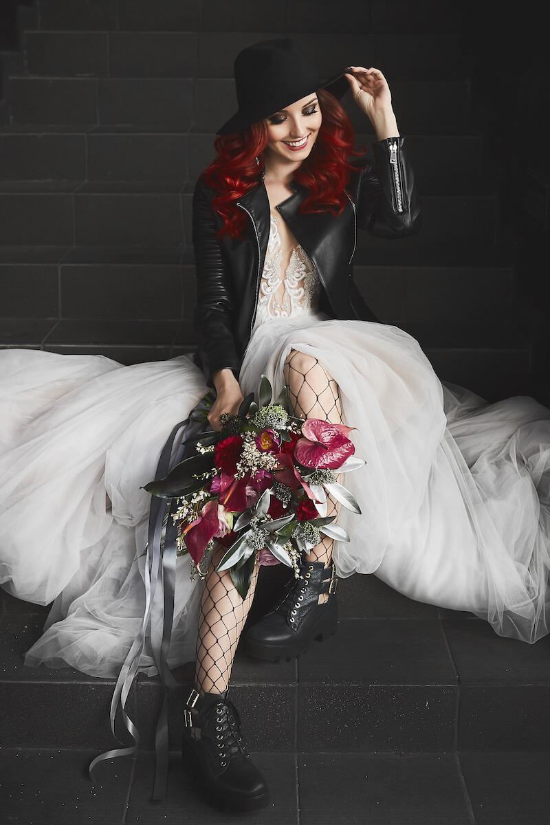 Rocker Hochzeit, Biker Hochzeit, Biker Braut