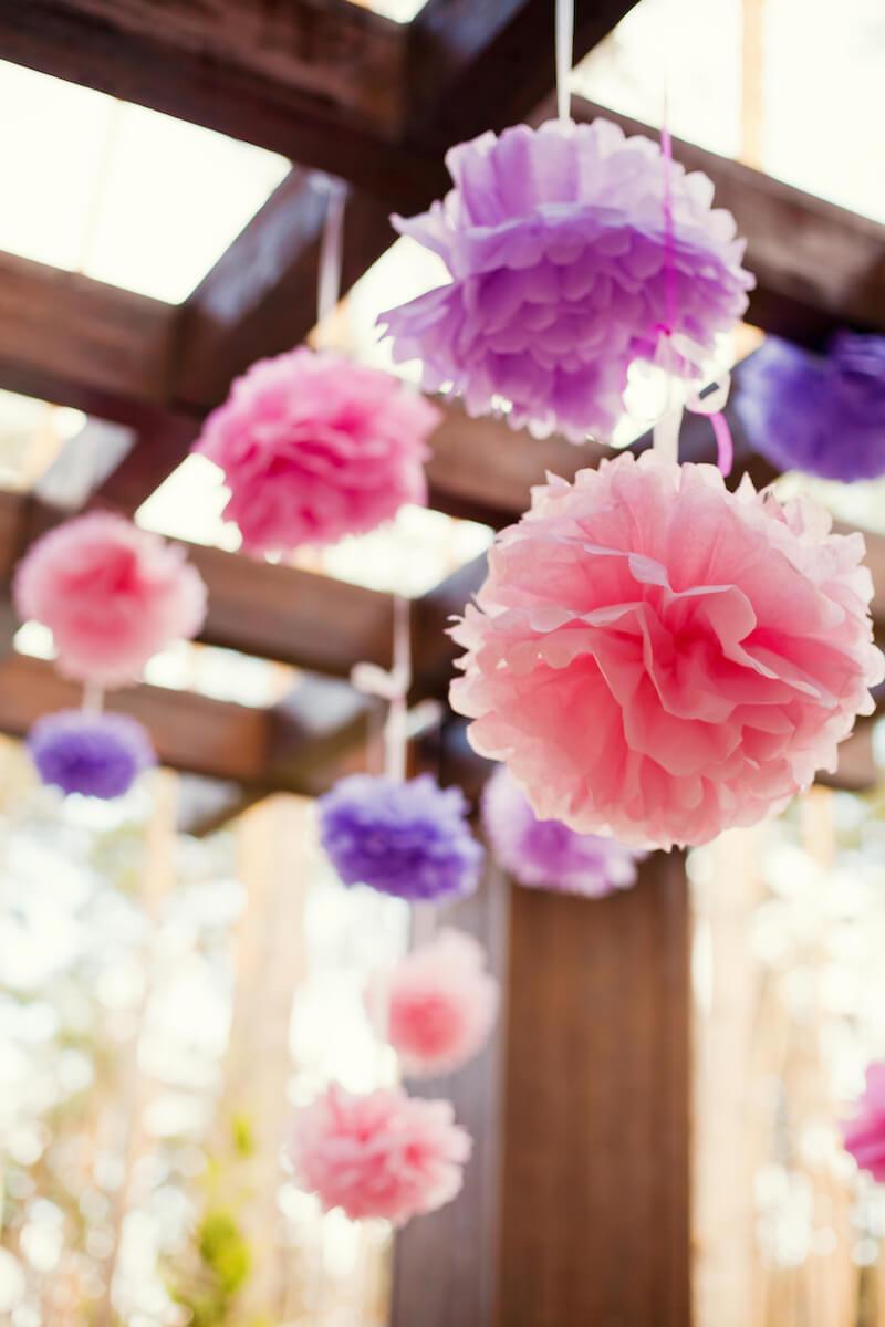 Hochzeitsdeko Pompons