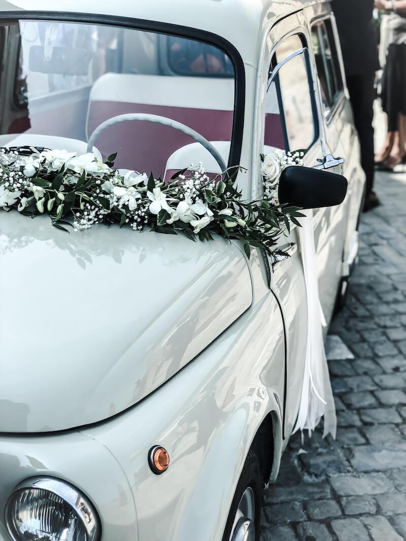 Girlande Hochzeitsauto