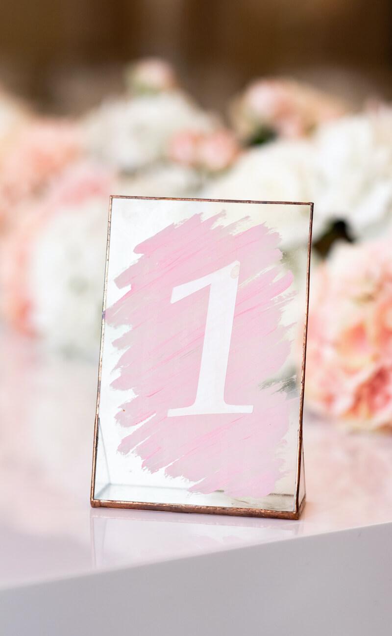 Hochzeit Tischnummer