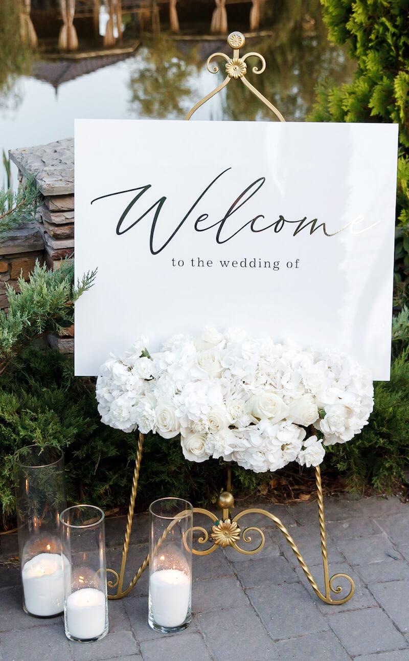 Willkommensschild Hochzeit elegant