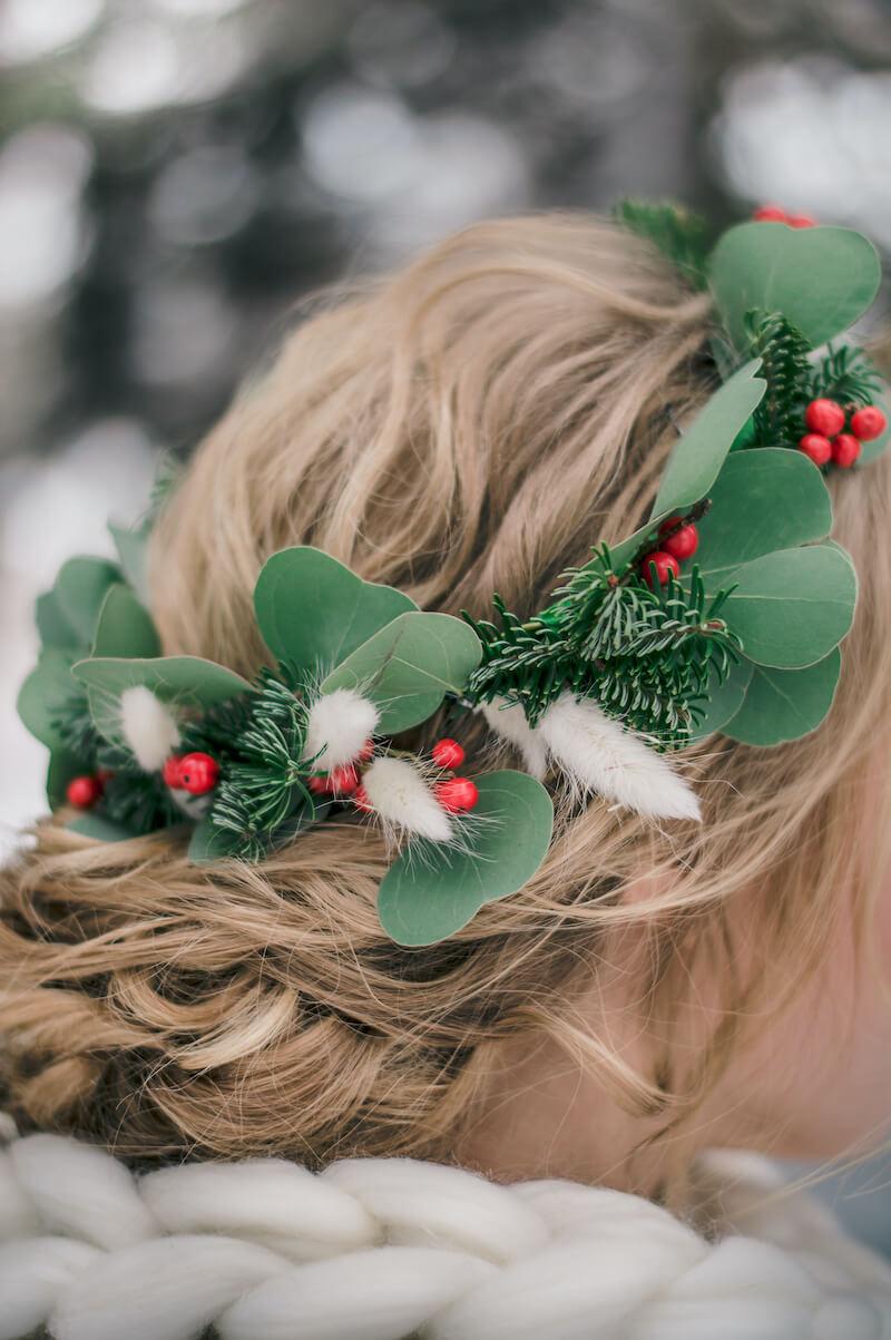 Haarblumen Winterbraut