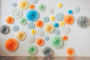 Hochzeit Papierrosetten, DIY Hochzeitsdeko