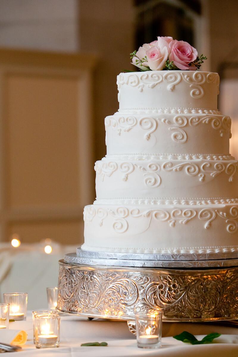 Hochzeitstorte silber
